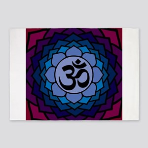 ohm02lotus 5'x7'Area Rug